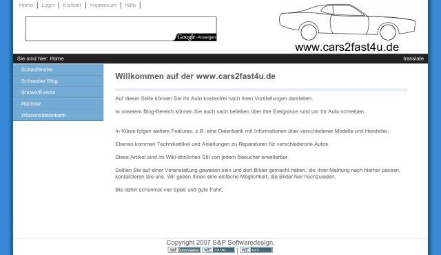 Screenshot www.cars2fast4u.com